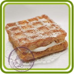 Венская вафля - Эксклюзивная силиконовая форма для мыла, свечей, шоколада, гипса и пр.