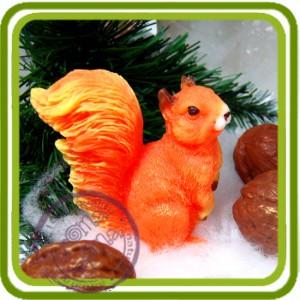 Белочка 2 (2 размера) - 3D силиконовая форма для мыла, свечей, шоколада, гипса и пр.