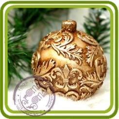 Елочный шар 3 (с геральд. лил.)- Объемная силиконовая форма для мыла