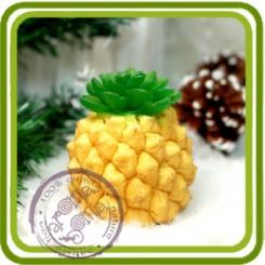 Ананас (плод и хвостик) 3d - Авторская силиконовая форма для мыла