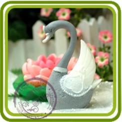 Лебедь1, 3D  - Объемная силиконовая форма для мыла