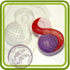 8 Марта Глобус - пластиковая форма для мыла