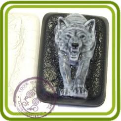 Волк из темноты - пластиковая форма для мыла