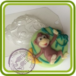 Обезьяна на лиане - пластиковая форма для мыла