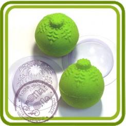 Сфера Снежинка - пластиковая форма для изготовления бомбочек или мыла