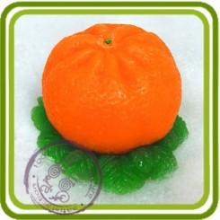 Мандаринка на хвое - Объемная силиконовая форма для мыла