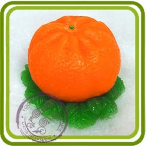 Мандарин на хвое - 3D силиконовая форма для мыла, свечей, шоколада, гипса и пр.