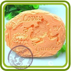 Камень с лягушкой - Объемная силиконовая форма для мыла