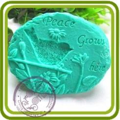 Камень с птичкой - Объемная силиконовая форма для мыла