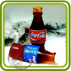 Бутылка Кола (Pepsi,Cola) 3d - Объемная силиконовая форма для мыла
