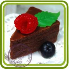 Бисквит (треуг. без ягод)  3d- Объемная силиконовая форма для мыла