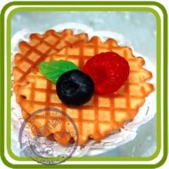 Вафелька- (печенье в клеточку) - Объемная силиконовая форма для мыла