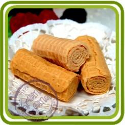 Вафельные трубочки (2 шт) - Объемная силиконовая форма для мыла