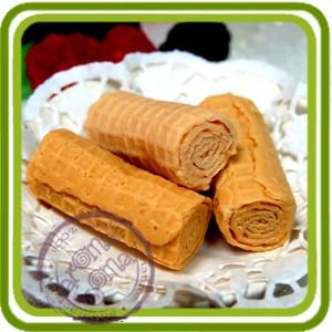Вафельные трубочки (2 шт) - Эксклюзивная силиконовая форма для мыла, свечей, шоколада, гипса и пр.