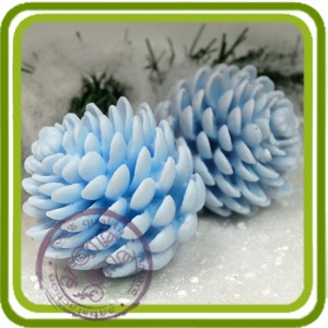Шишка сосновая - 3D силиконовая форма для мыла, свечей,гипса и пр.