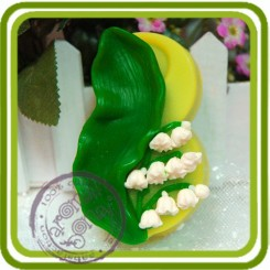 8 марта (ландыши) 2d - Авторская силиконовая форма для мыла