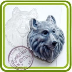 Волк - пластиковая форма для мыла