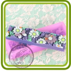 Цветочный  трэй (под нарезку) - Объемная силиконовая форма для мыла