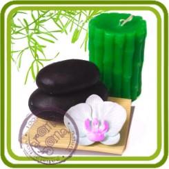 Бамбук - Объемная силиконовая форма для мыла