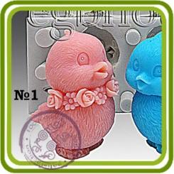 Птенчик (цыпленок) 3D - Объемная силиконовая форма для мыла