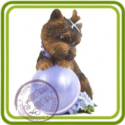 Йорк с шариком 3d - Объемная силиконовая форма для мыла