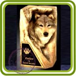Волк в камне 3d - Объемная силиконовая форма для мыла