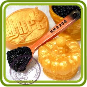 Ложечка с икрой - 2D силиконовая форма для мыла, свечей, шоколада, гипса и пр.