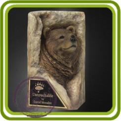 Медведь в камне 3d - Объемная силиконовая форма для мыла