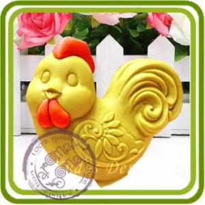 Петушок - 2D силиконовая форма для мыла, свечей, шоколада, гипса и пр.