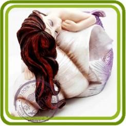 Русалочка- малышка (сидит на камушке) 3D - Объемная силиконовая форма для мыла, свечей, гипса, шоколада и пр.