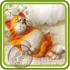 Кот Манэки-Нэко (денежный кот) 3d - Объемная силиконовая форма для мыла