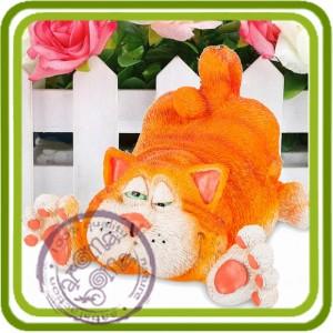 Кот забавный - 3D силиконовая форма для мыла, свечей, шоколада, гипса и пр. .