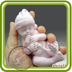 Малыш, младенец Рождественский (большой) - 3D силиконовая форма для мыла, свечей, шоколада, гипса и пр.