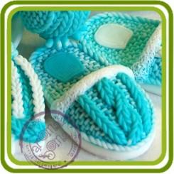 Тапочек вязаный - Авторская силиконовая форма для мыла, свечей, шоколада, гипса и пр.
