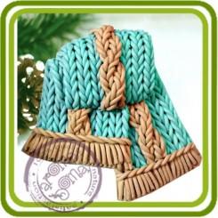 Шарф вязаный - Авторская 2D силиконовая форма для мыла, свечей, шоколада, гипса и пр.