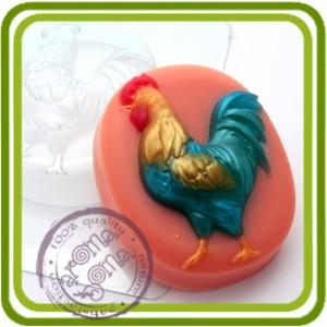 Петух (овал) - пластиковая форма для мыла
