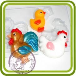 Семейка Петуховых - пластиковая форма для мыла