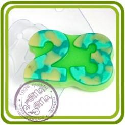 23 плоская - пластиковая форма для мыла
