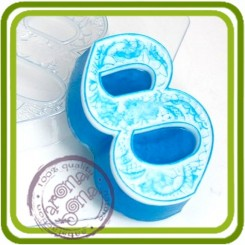 Восьмерка кружевная - пластиковая форма для мыла