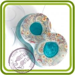 Восьмерка плоская - пластиковая форма для мыла