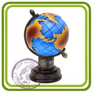 Глобус - 3D силиконовая форма для мыла, свечей, шоколада, гипса и пр.