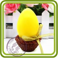 Яйцо в корзине 3d - Объемная силиконовая форма для мыла