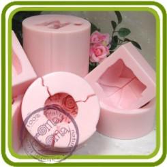 Банан (малый) очищенный  - Авторская силиконовая форма для мыла, свечей, шоколада, гипса и пр.