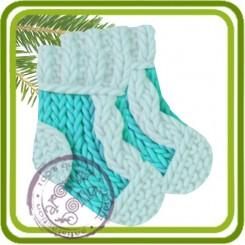 Носочки вязаные - Авторская 2D силиконовая форма для мыла, свечей, шоколада, гипса и пр.