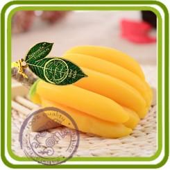 7 Бананы связка узкая - 2D Объемная силиконовая форма для мыла, свечей, гипса, шоколада и пр.