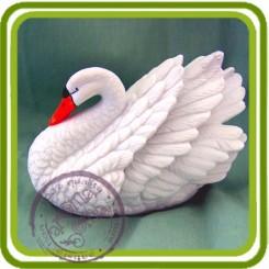 Лебедь 2 (5 размеров) serSF , 3D силиконовая форма для мыла, свечей, шоколада, гипса и пр.