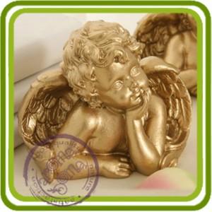Ангел задумчивый 1 (2 размера) - 3D силиконовая форма для мыла, свечей, шоколада и пр.
