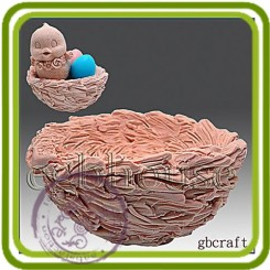 Гнездо - 3D силиконовая форма для мыла, свечей, шоколада, гипса и пр.