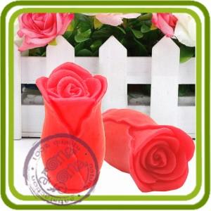 Бутон розы 2 - 3D Эксклюзивная силиконовая форма для мыла, свечей, шоколада, гипса и пр.