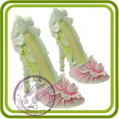 Туфелька с цветком (2 размера)  - 3D силиконовая форма для мыла, свечей, шоколада, гипса и пр.